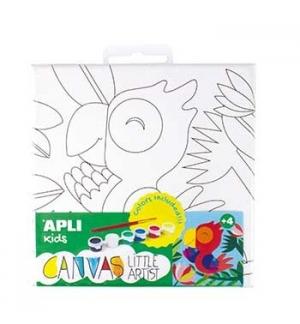 Tela Apli Kids Little Artist Desenho Papagaio 1un