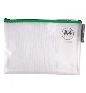 Bolsa Plástico A4 APLI Reforço Fio Fecho Correr