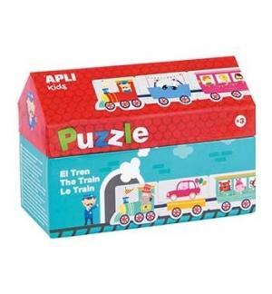 Jogo Puzzle Apli Tema Comboio 20 Peças