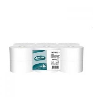 Papel Higienico (Jumbo) 075mts 2Fls Amoos Pasta-12un