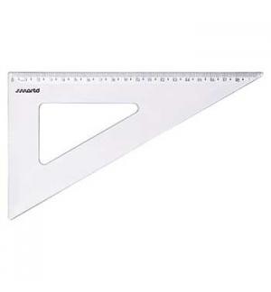Esquadro Plastico Cristal SmartD 60º - 20cm - 1un