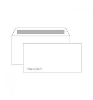 Envelopes 110X220mm s/janela Cx 25un Autodex