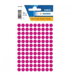 Etiquetas Redondas 08mm Rosa Herma1836 540un