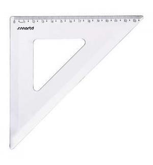 Esquadro Plastico Cristal SmartD 45º - 21cm - 1un