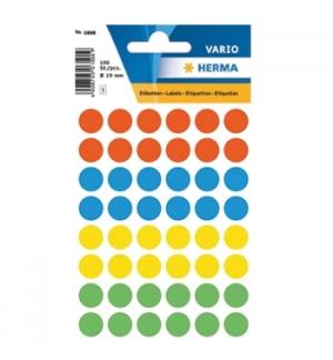 Etiquetas Redondas 12mm Sortido Herma1851 240un