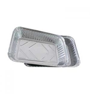 Embalagem Alimentar 1500ml Alumínio Retangular Tampa  25un