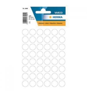Etiquetas Redondas 12mm Branco Herma1860 240un
