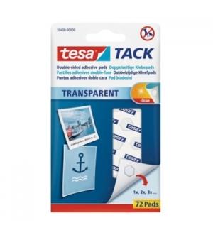 Almofadas Bi-Adesivas Tesa TACK Transparentes 72un