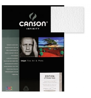 Papel Canson Infinity Ed. Etching Rag A3 100% 310gr 25Fls