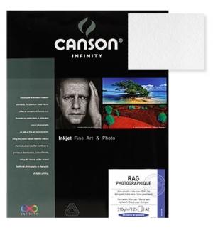 Papel Canson Infinity Rag Photograph A3 100% 310gr 25Fls
