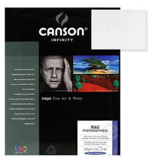 Papel Canson Infinity Rag Photograph A4 100% 210gr 10Fls
