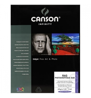 Papel Canson Infinity Rag Photograph Duo A3 100% 220gr 25Fls