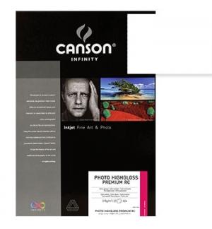 Papel Canson Infinity Photo HighGloss Prem RC A3+ 315g 25Fls