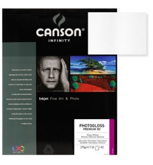 Papel Canson Infinity Photo Gloss Premium RC A3 270gr 25Fls