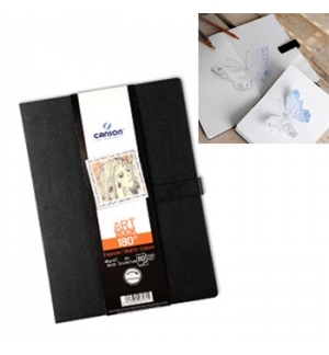 Caderno Canson Artbook 180º A4 96gr 80Fls
