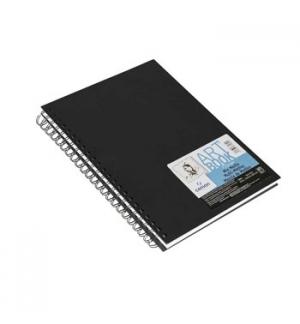 Caderno Espiral Capa Preta Canson Artbook 17,8x25,4 224g 40F