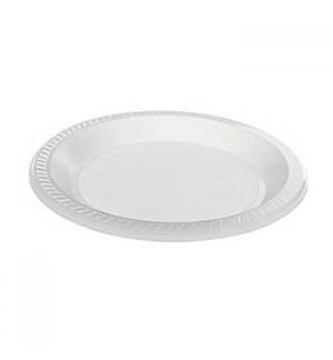 Pratos Plástico PS Sopa Branco 170mm 50un