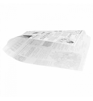 Papel Anti-Gordura Times P/B (Burguer) 34g 16x16,5cm 500un