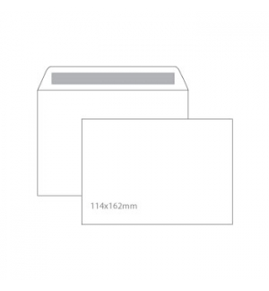 Envelopes 114x162mm CX500Un AUTODEX Branco C6  90gr