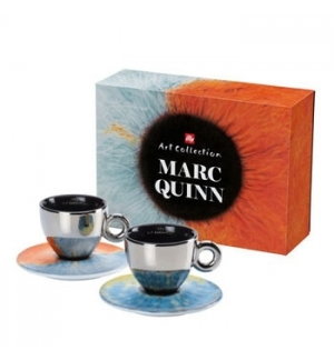Conj Chav+Pires Capuccino Illy Art Collection Marc Quinn 2un