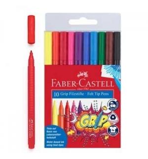 Marcador Feltro Faber-Castell Grip 10 Cores