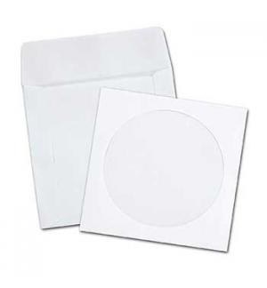 Envelopes Papel c/Janela 125x125mm p/CD/DVD Cx 500un