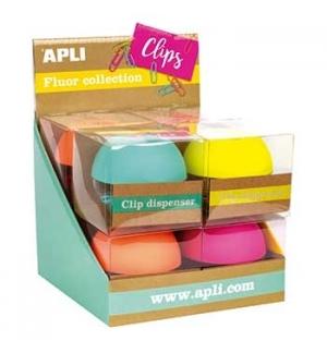 Porta Clips Apli Soft Fluor Sortido 1un