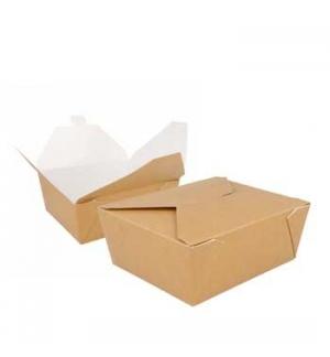 Caixa Cartolina Kraft 15,3x12,1 x6,4cm 1350ml 50un
