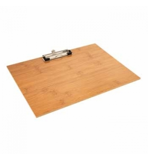 Porta Menus Clip Bambu 31,8x22,9x0,4cm 1un