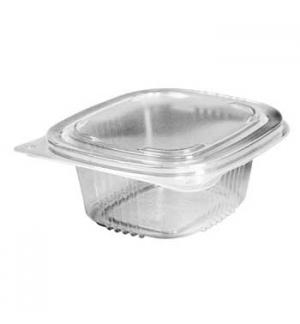 Embalagem Alimentar 385ml  PP Plástico Quadrada Tampa 120un