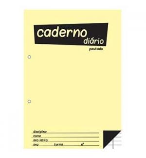 Caderno Diario Pautado 25x17,6 (B5) 40fls 60grs 1un