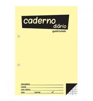 Caderno Diario Quadriculado 25x17,6 (B5) 40fls 60grs 1un