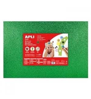 Placa de Cor Musgami 40x60cm 2mm c/ Purpurinas Verde 3Fls