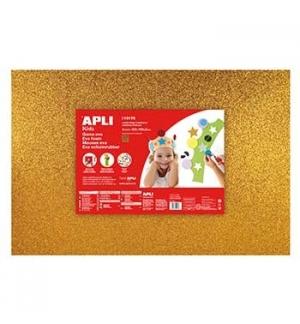 Placa de Cor Musgami 40x60cm 2mm c/ Purpurinas Ouro 3Fls