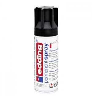 Tinta Acrilica Edding 5200 Spray 200ml Preto