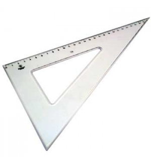 Esquadro Plastico Cristal SmartD 60º - 29cm - 1un