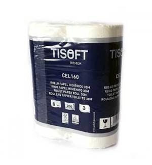 Papel Higienico Domestico 30mts Tisoft Premium 3Folhas 60Rls