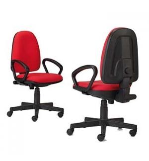 Cadeira Operativa Giratória com Braços 6000 Cor Preto