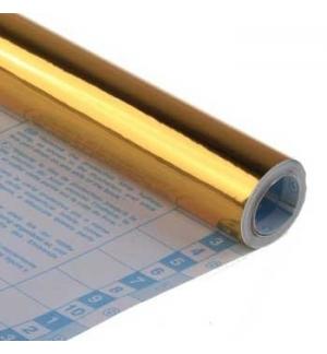 Forra Livros Rolo 0.50x3mts autocolante 100mic Ouro Metalico