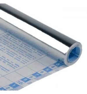 Forra Livros Rolo 0.50x3mts autocolante 100mic Prata Metalic