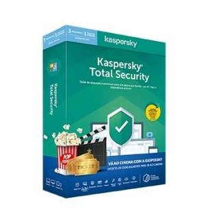 KASPERSKY Total Security 3U1Y + 2 Bilhetes de cinema