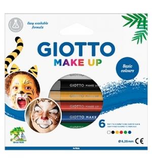 Lápis Facial Giotto Make Up Cores Clássicas 6un