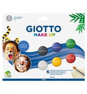Pintura Facial Giotto Make Up Clássicas Pincel Esponja 6un