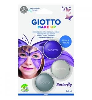 Pintura Facial Giotto Make Up 3x5ml Borboleta