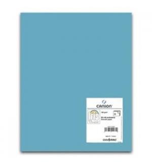 Cartolina 185gr 1 Folha 50x65cm Canson Iris Azul Celeste