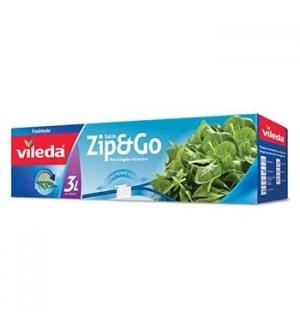 Saco Congelação Vileda ZIP & GO 3L - 10un