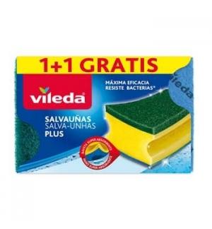 Esponja Salva Unhas Verde Antibactérias 1+1Grátis