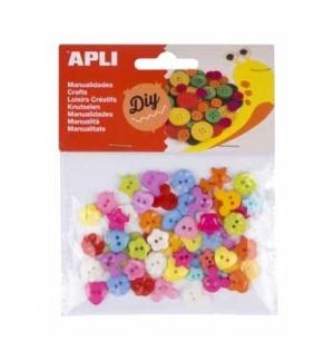 Botões Plásticos Apli Coloridos 12mm 60un