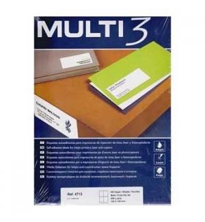 Etiquetas 105x148 Multi3 100 Folhas A4 400un