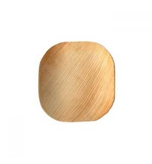 Pratos Folha de Palma Quadrado 10x10x1,5cm 25un